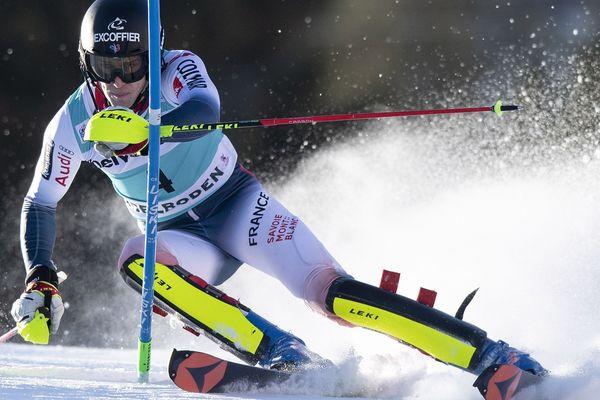 Clément Noël a signé le deuxième temps de la première manche du slalom d'Adelboden.