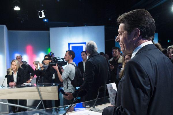 Christian Estrosi et Marion Maréchal Le Pen en débat sur le plateau de France 3.