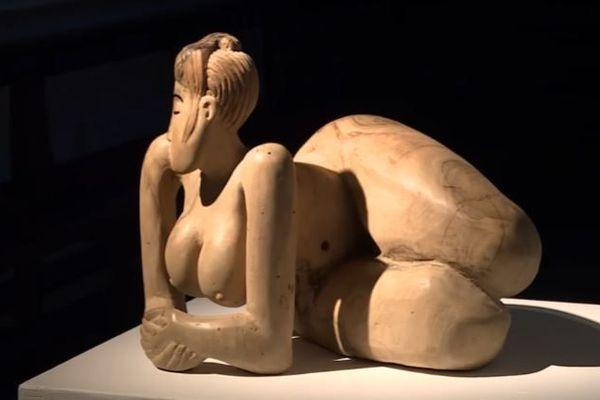 Une des sculptures de Jacques Lasserre exposée à Biarritz
