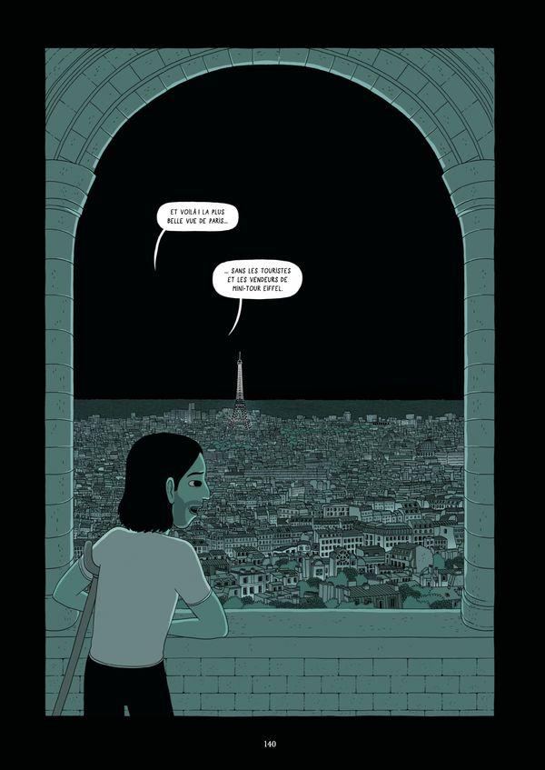 Planche extraite du roman graphique Le Spectateur