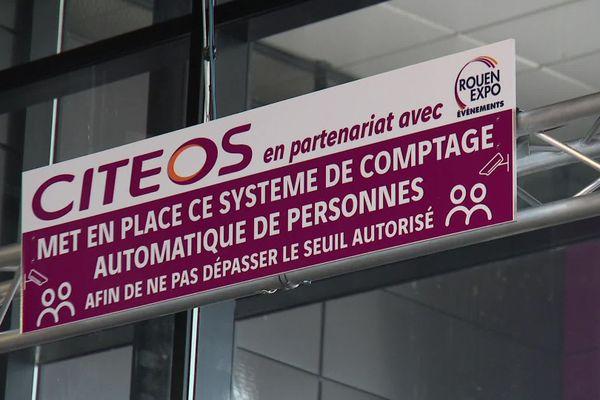 Un système électronique permet de compter en temps réel le nombre de personnes présentes à la Foire internationale de Rouen 2020