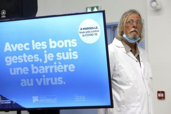 Le professeur Didier Raoult à l'IHU Méditerranée Infection à Marseille.