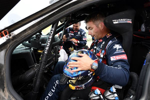 Sébastien Loeb lors de la Silk Way 2017