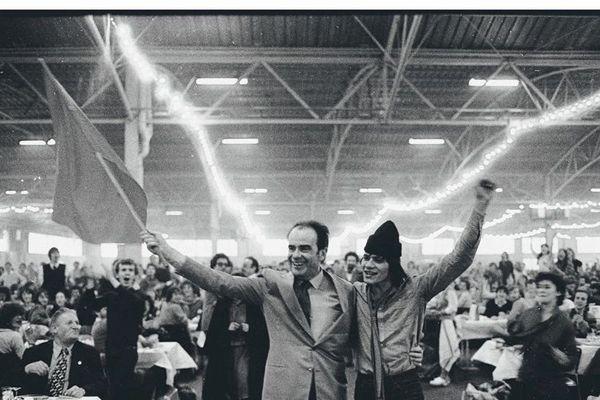 Le 21 décembre 1980, 60e anniversaire du PCF au Bourget (Seine-Saint-Denis)