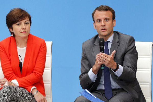 Carole Delga et Emmanuel Macron