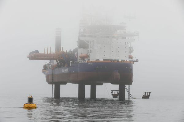 Le navire de forage doit quitter la baie de Saint-Brieuc ce mardi pour vérifier son état