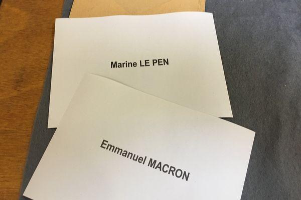 Bulletins Macron-Le Pen du second tour de la Présidentielle 2017