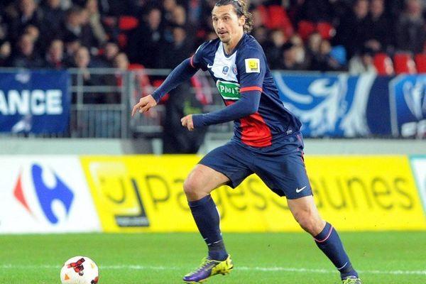 Zlatan Ibrahimovic, auteur de trois but contre Brest en Coupe de France