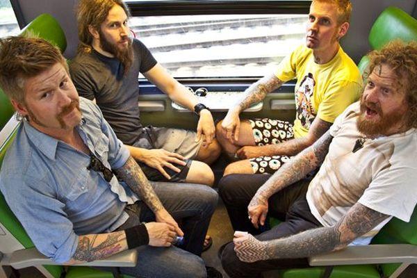 Les 4 membres du groupe Mastodon.