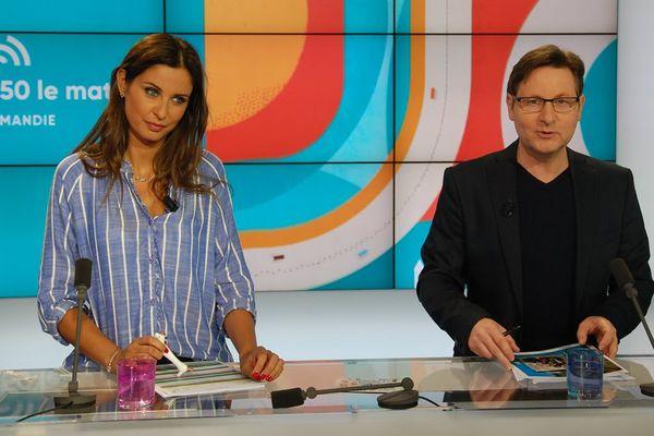 Malika Ménard et Laurent Quembre, un duo de choc pour l'émission matinale de France 3 Normandie