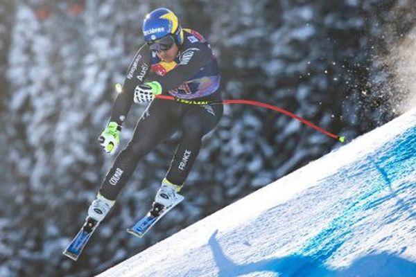 Valentin Giraud-Moine à Kitzbühel, le 21 janvier 2017 prend la deuxième place en coupe du monde de descente.