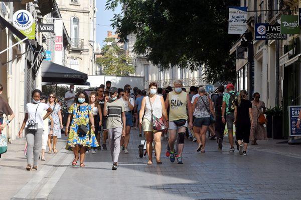 Dans l'hyper centre de Montpellier, le masque est obligatoire depuis le 11 août 2020.
