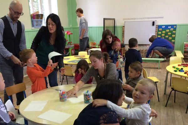 La rentrée scolaire à Marigny-lès-Reullée en Côte-d'Or