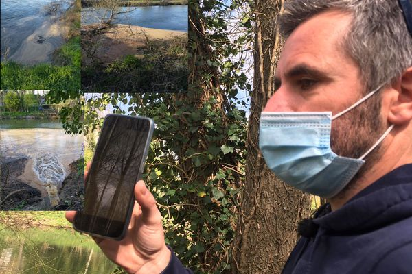 Pendant des semaines, Jean-Charles Lagrange a photographié la pollution de l'Isle et alerté sur les réseaux sociaux