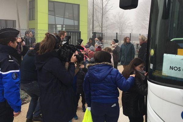 Des enfants ont été évacués et mis à l'abri à Nogent-sur-Seine, dans le cadre d'un exercice de sûreté nucléaire.