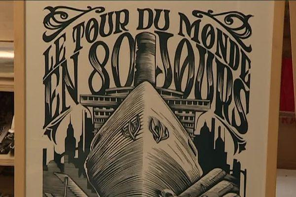 L'univers du romancier nantais Jules Verne est aujourd'hui détourné et adapté dans des affiches et pièces de théâtre.