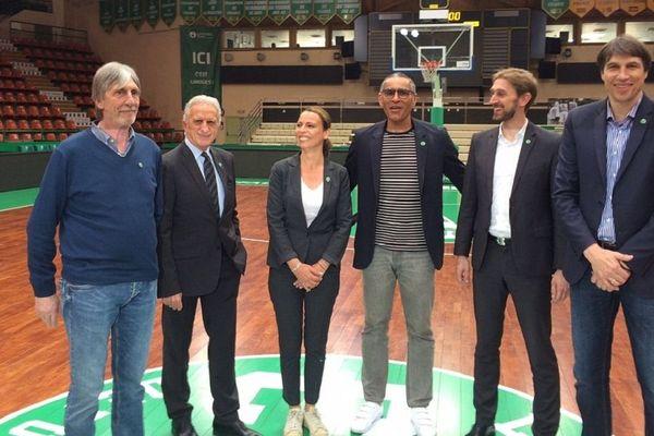 La nouvelle équipe dirigeante du CSP : Claude Bolotny, Yves martinez, Céline Forte, Richard Dacoury, Pierre Fargeaud et Stéphane Ostrowski