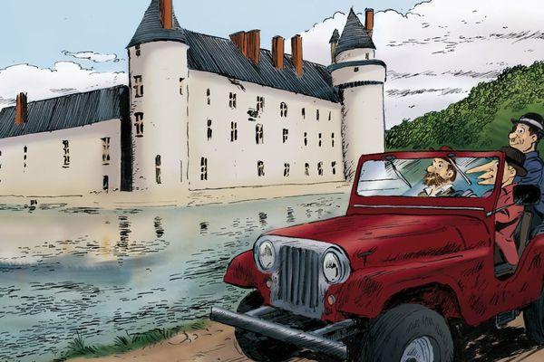 Extrait d'une couverture bis réalisée pour le château du Plessis-Bourré