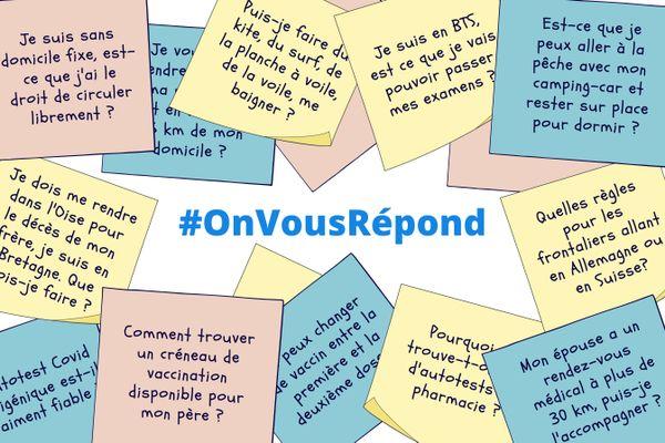 Avec #OnVousRépond, vous posez vos questions, France 3 vous donne les réponses.