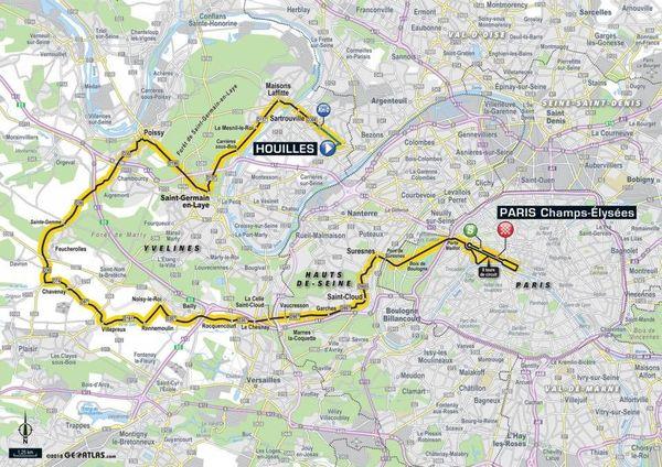 La carte de la 21e étape du Tour 2018