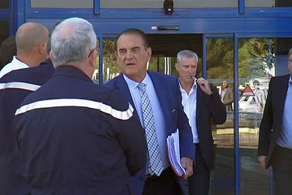 Montpellier - réunion entre les pompiers de l'Hérault et le président du conseil départemental - 22 septembre 2016.