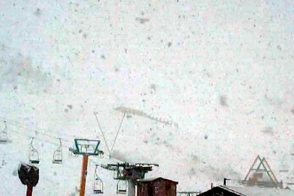 Capture d'écran d'une webcam de Luz-Ardiden