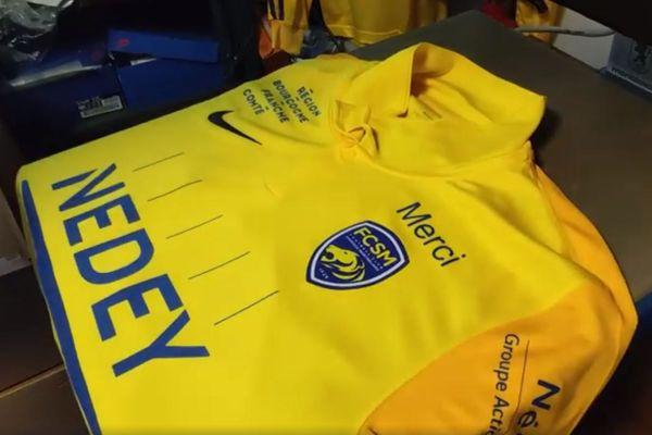 Les 18 maillots seront vendus à l'issue de la rencontre.