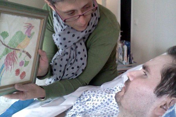 Vincent Lambert sur son lit d'hôpital