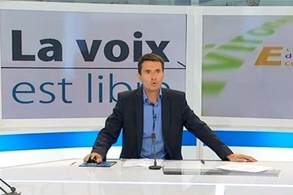Yann Gonon sur le plateau de La Voix Est Libre