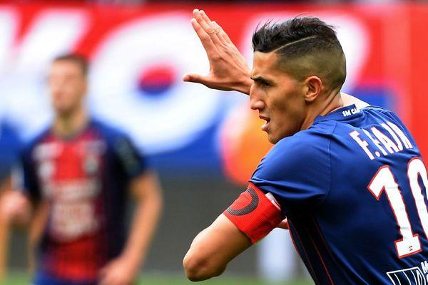 Le capitaine Fayçal Fajr, auteur du but de la victoire du Stade Malherbe de Caen face à Dijon