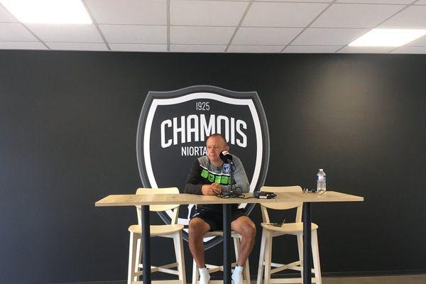Pascal Plancque à la conférence de presse des Chamois