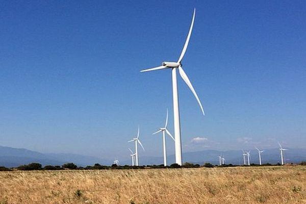 Baixax (Pyrénées-Orientales) - le plus grand parc éolien de France en service - 24 juin 2016.