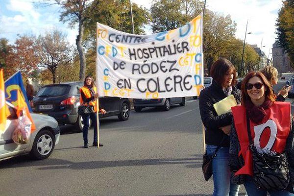 Nouvelle manifestation des personnels hospitaliers à Rodez