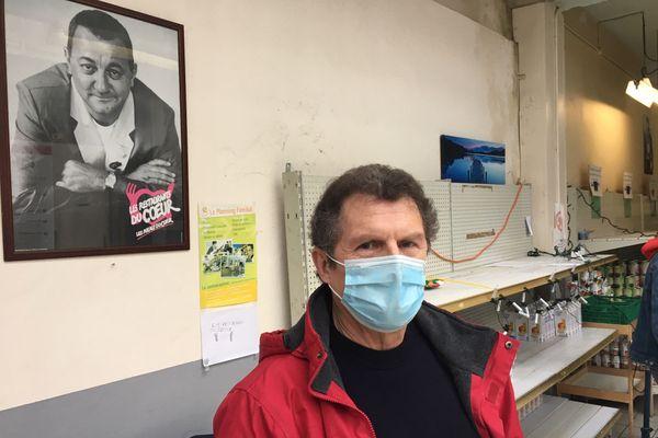 Jacques Bizet, responsable logistique des Restaurants du coeur dans le département de la Marne
