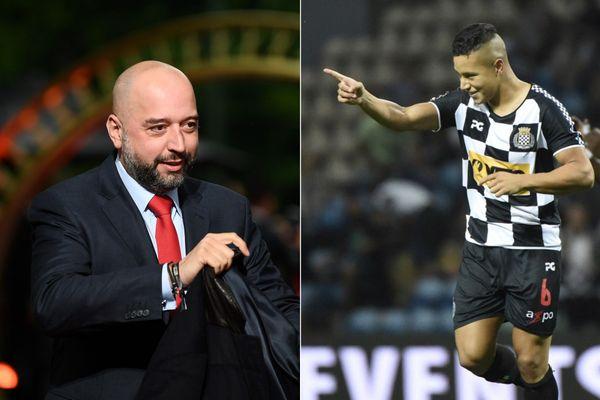 Gerard Lopez (à gauche) a-t-il jeté son dévolu sur le club portugais de Boavista ?