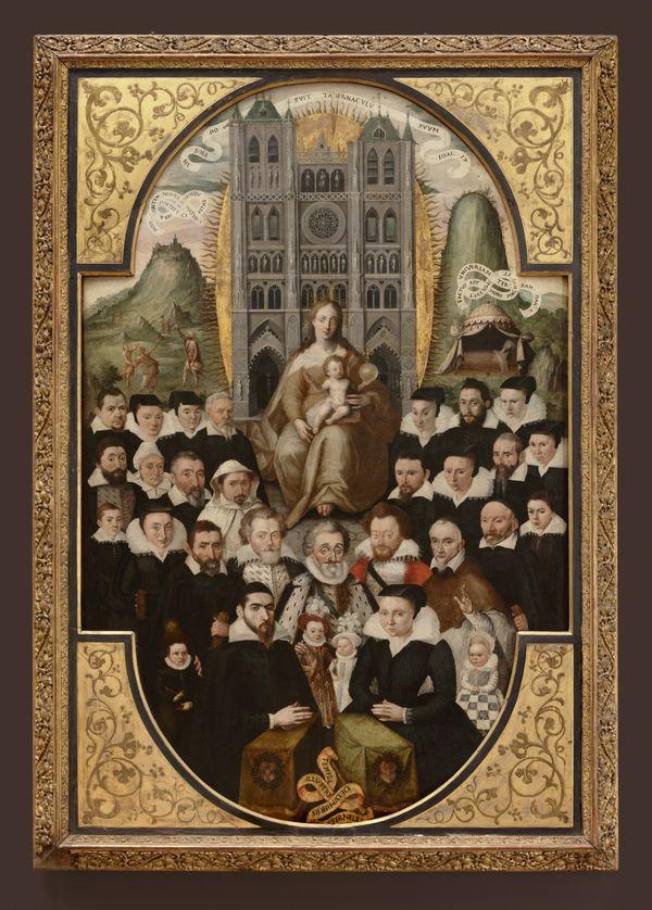 Mathieu Prieur?, Puy de 1605, Temple illustré de lumière éternelle, huile sur panneau, 160 x 105 cm