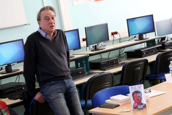 L'écrivain Jean-Luc Coatalem en janvier dernier lors de la présentation d'un autre de ses ouvrages dédié à la Corée du Nord