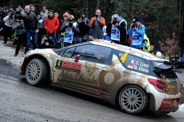 Sébastien Loeb et son co-pilote Daniel Elena ce 21 janvier à Chateauvieux.