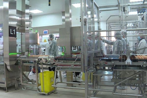 26 février 2021 la ministre Agnès Pannier-Runacher en visite officielle dans l'usine Sanofi-Pasteur de Val-de-Reuil (Eure)