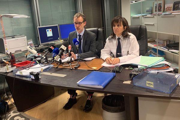 Le Procureur de Grenoble et la Directrice départementale de la sécurité publique.