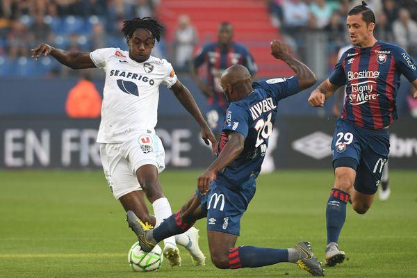 30/08/2019 : le Havrais Tino KADEWERE lors du match Caen / Le Havre.