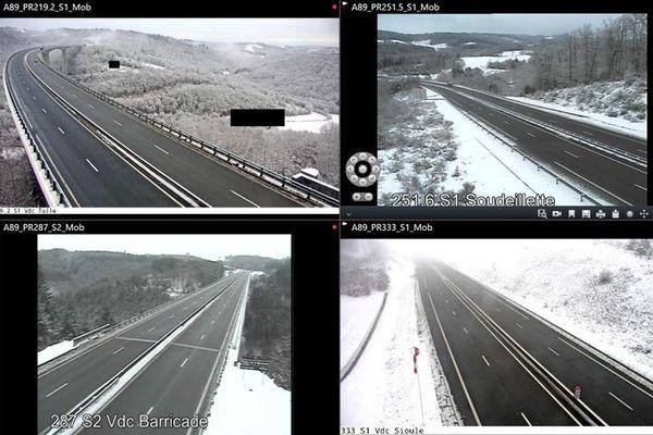 extrait des caméras sur l'autoroute A89