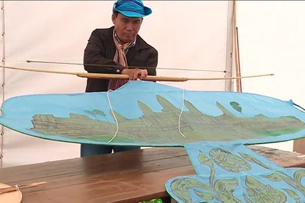 Septembre 2018- Dieppe : un cerf-volant traditionnel du Cambodge
