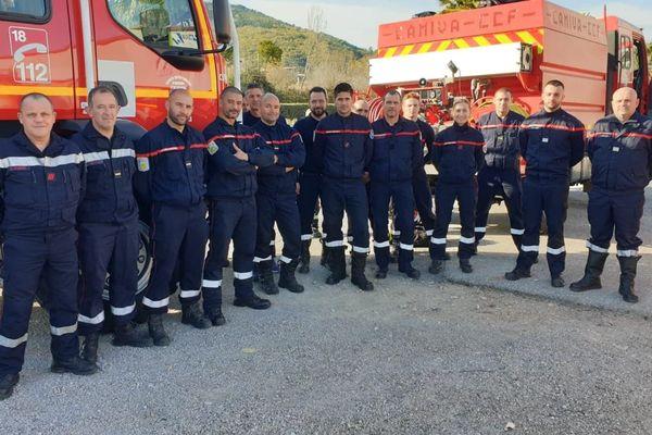 Les pompiers de Cannes-Mandelieu mobilisés contre les incendies en Haute-Corse.