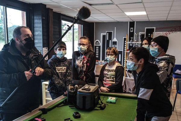 Le tournage du court-métrage «InstaDRAME» s'est déroulé pendant les vacances de février 2021 et a réuni une quinzaine de jeunes.