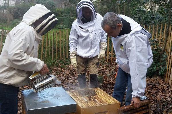 Les voeux du président, l'occasion de vérifier que les abeilles se portent bien.