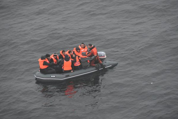 Une photo prise ce matin pendant l'intervention des secours.