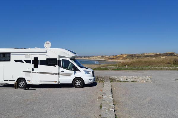 Un couple belge confiné dans son camping-car à la Pointe aux oies, au nord de Wimereux (62)