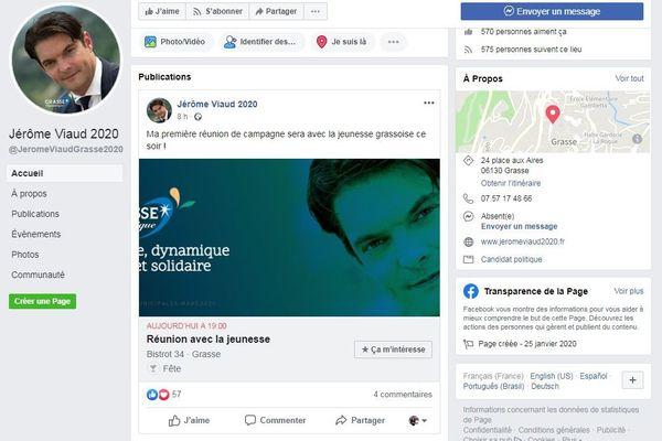 Jerome Viaud annonce sa candidature aux élections municipales 2020 à Grasse