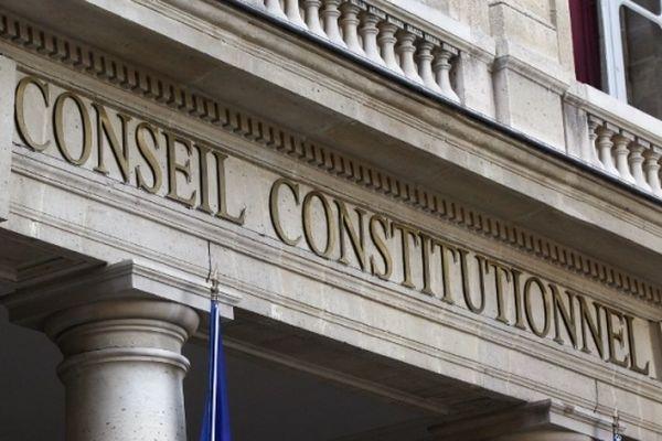 Fronton du Conseil Constitutionnel - 2, rue de Montpensier à Paris.